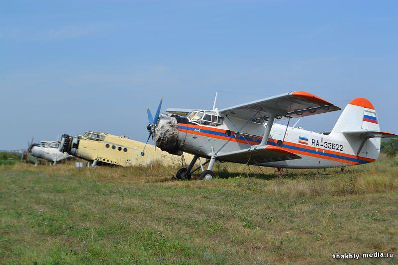 На шахтинском аэродроме прошла выставка аэротехники