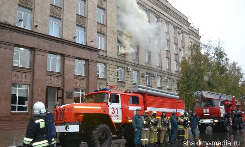 В Шахтинском политехническом институте загорелась аудитория