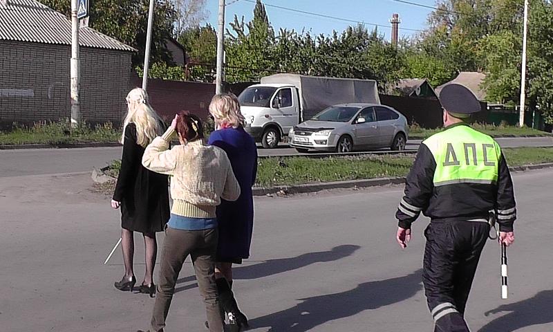В Шахтах прошла акция «Водитель, будь внимателен – пешеход с белой тростью!»