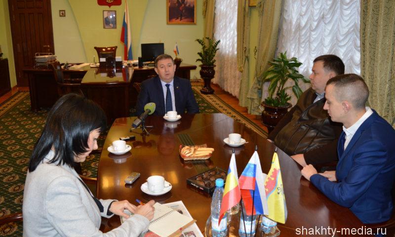 Глава администрации города Шахты встретился с руководством муниципальных средств массовой информации