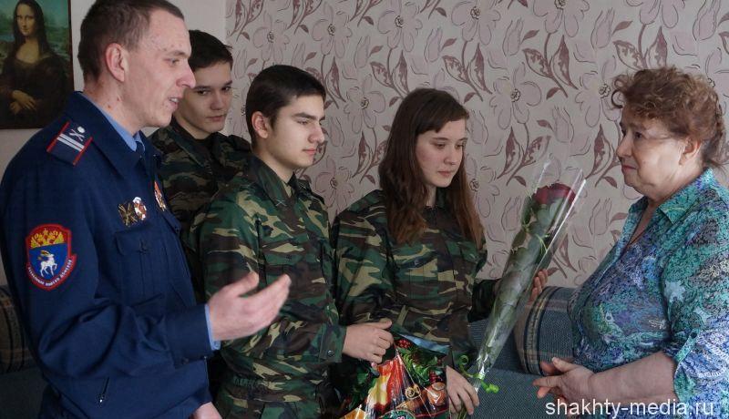 Шахтинские «Донцы» навестили дочь Героя Великой Отечественной войны