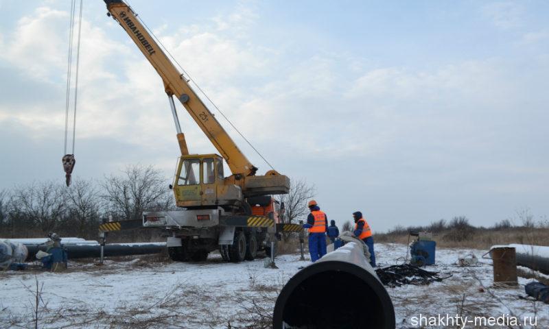В поселке Аютинский ремонт водопровода завершится в конце февраля