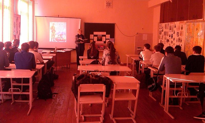 В школе №41 прошел конкурс «Святое дело – служить Отчизне»