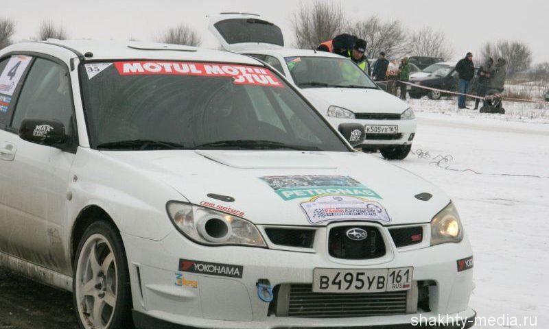 Автолюбители приняли участие в первом в Шахтах снежном ралли