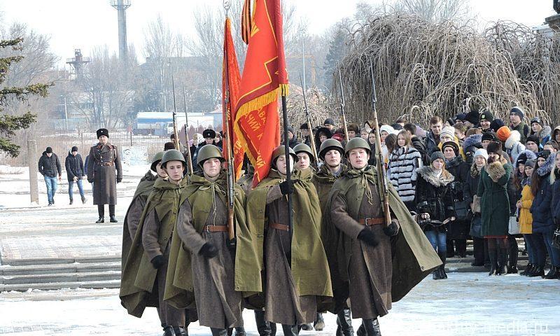 В Александровском парке г. Шахты прошел митинг в честь освобождения города