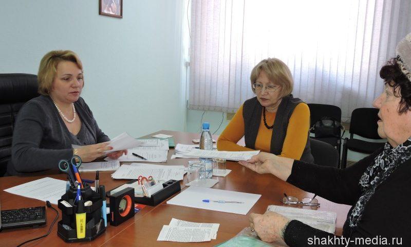 Замминистра труда и соцразвития области провела прием в Шахтах