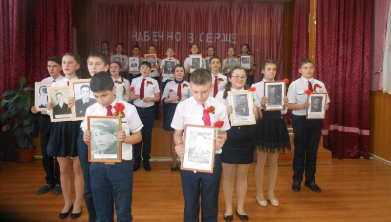 В школе №32 прошел фестиваль патриотической песни «Памяти победителей посвящается»