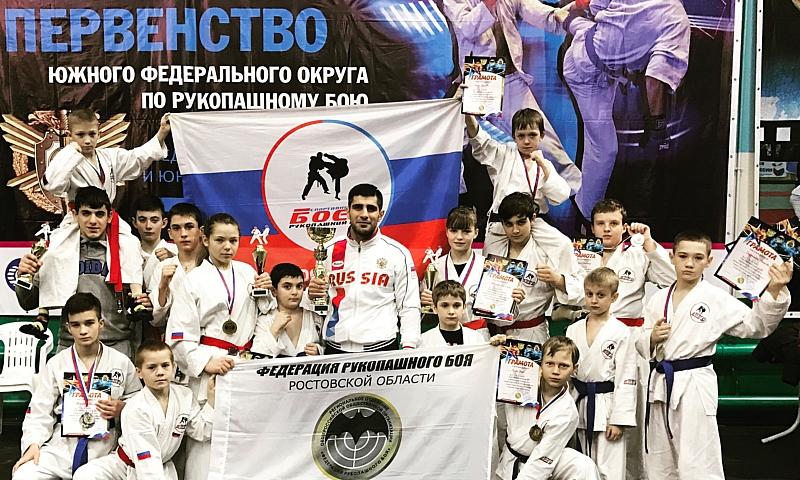 Шахтинские спортсмены на первенстве ЮФО по рукопашному бою завоевали девять медалей