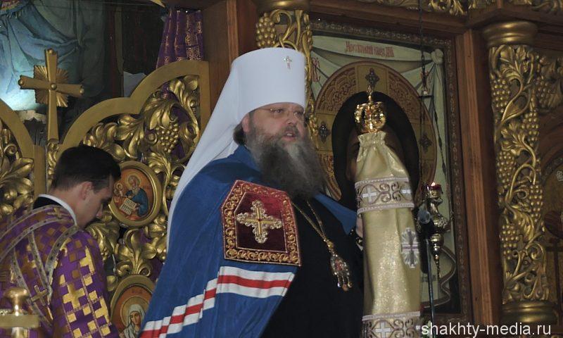 Митрополит Ростовский и Новочеркасский Меркурий отслужил Божественную литургию в Шахтах