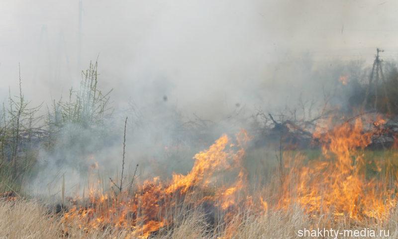 В Шахтах с начала года зарегистрировано 46 случаев загораний мусора и сухой растительности