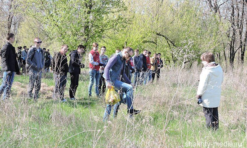 В ГРЭСовском парке города Шахты высадился молодежный десант