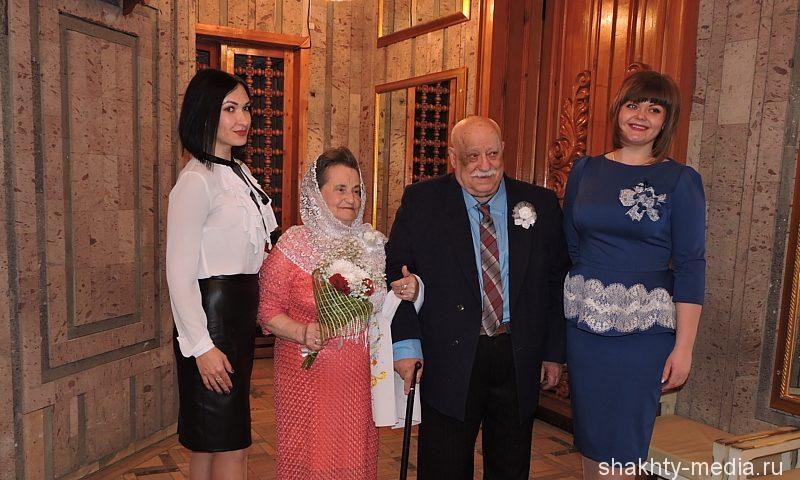 В День смеха супруги Мусатенко из г. Шахты отпраздновали бриллиантовую свадьбу