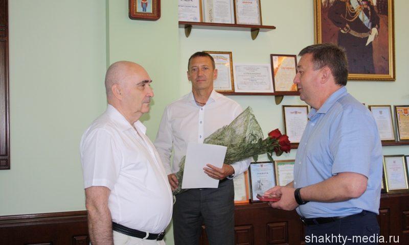 Шахтинец Сергей Новиков награжден памятным знаком «80 лет Ростовской области»