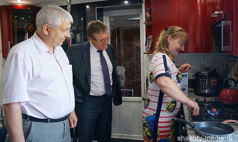 Пробный пуск газа произвели по переулку Батырский в Шахтах
