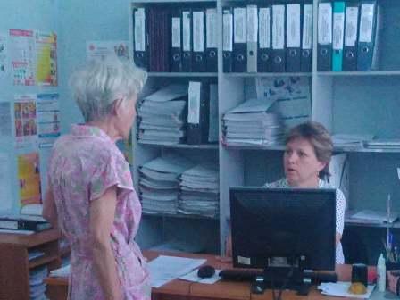 Специалисты Центрального территориального отдела №2  проводят консультации граждан