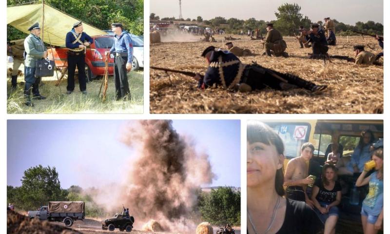 Юные историки  из ГДДТ г. Шахты побывали на реконструкции Миус-фронта