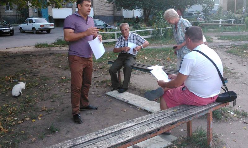 В п.ХБК г.Шахты проведена встреча с жителями по проекту «Формирование комфортной городской среды»