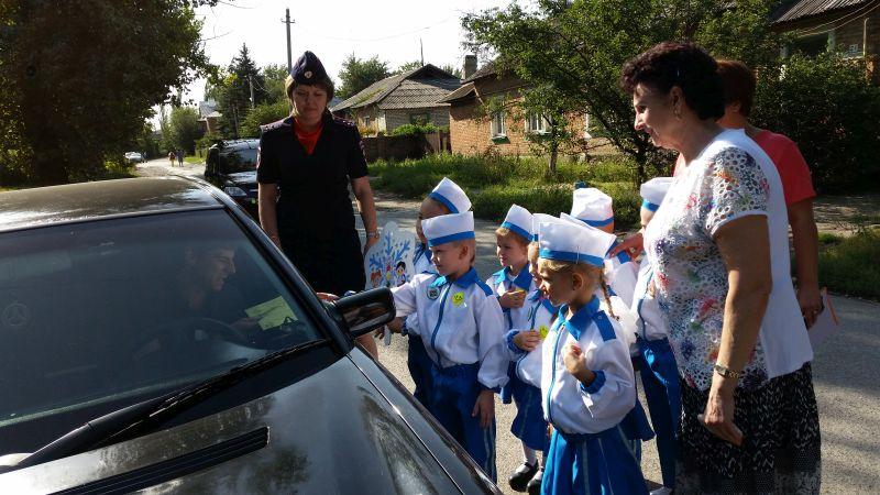 Ребята из детского сада №22 приняли участие в акции «Вежливый водитель, примерный пешеход»