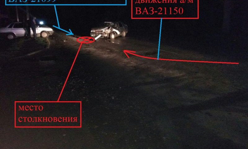В Шахтах столкнулись два автомобиля ВАЗ