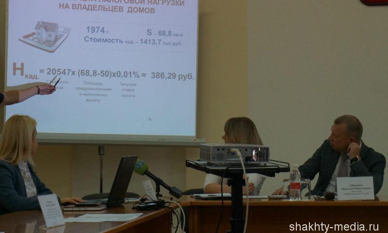 Совещание по вопросу перехода начисления налога на имущество физических лиц исходя из кадастровой стоимости имущества прошло в администрации г. Шахты