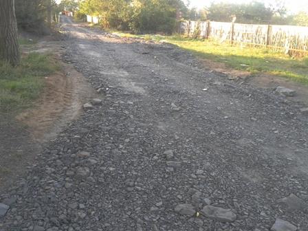 Произведена отсыпка улиц поселка Даниловка г.Шахты