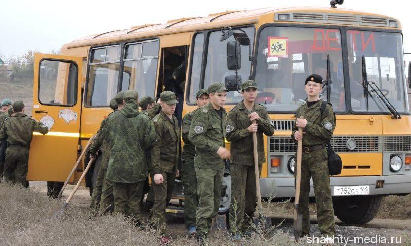 Шахтинские кадеты приняли участие  в Дне древонасаждения