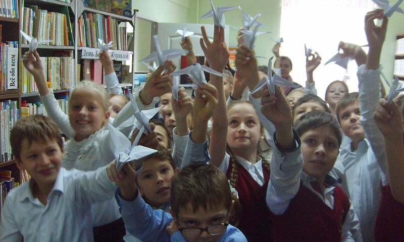 Белые журавлики горьковской библиотеки
