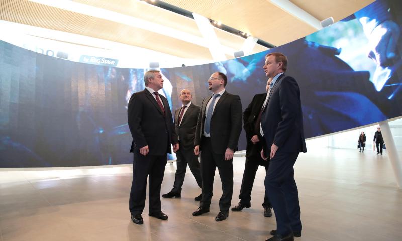 Интерактивную экспозицию «Платов и его время» открыл губернатор Ростовской области