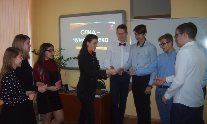 Работники библиотеки им. М. Горького г.Шахты провели час здоровья для учеников лицея №6