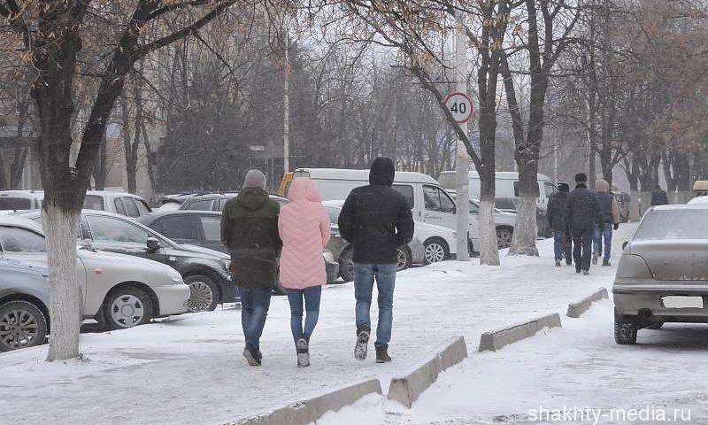 Снег, гололед и сильный ветер будут с начала новой недели в Шахтах