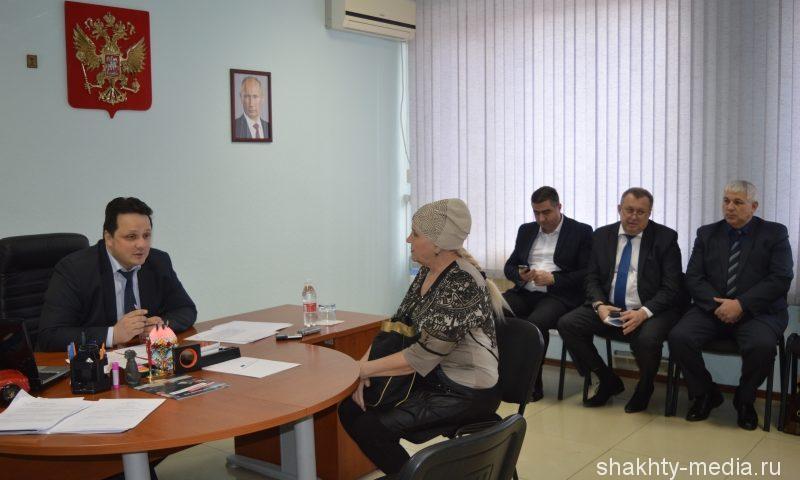 Министр промышленности и энергетики Ростовской области провел в прием граждан в городе Шахты