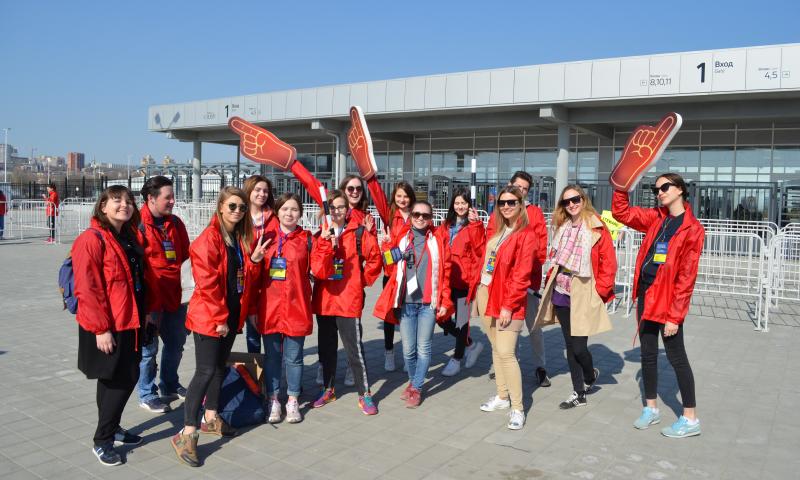 Волонтеры ЧМ-2018 помогли провести тестовый матч на стадионе «Ростов Арена»
