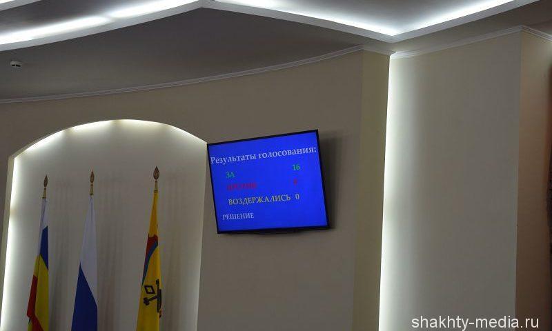 На 40-ом заседании городской Думы города Шахты рассмотрят шесть вопросов