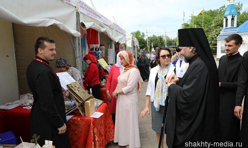 Международная православная выставка-ярмарка «Торжество Православия» открылась на подворье Покровского кафедрального собора г. Шахты