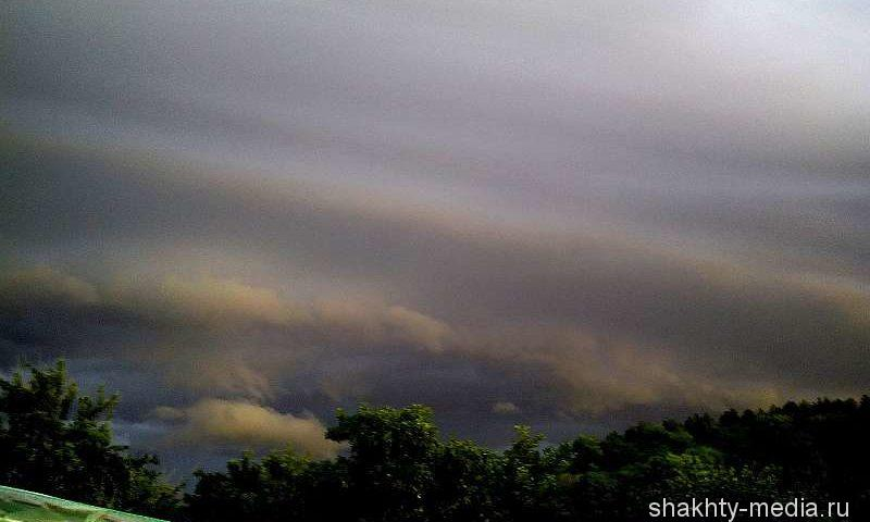 На выходных в Шахтах ожидаются ливни в сочетании с грозой и шквалистым ветром