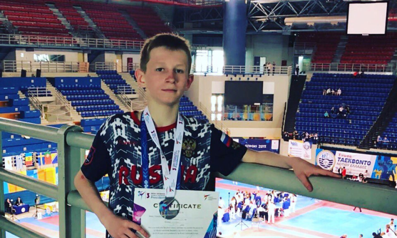 Шахтинец Руслан Триноженко завоевал серебряную медаль в Международном турнире по тхэквондо в Греции