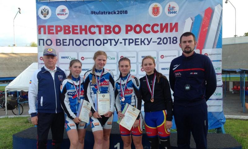 Шахтинские спортсменки завоевали серебро на первенстве России  по велоспорту