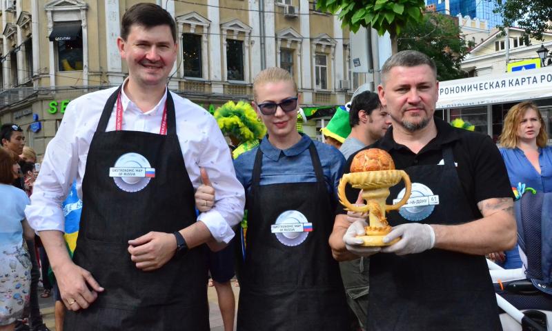 Стритфуд-фестиваль «Гастрономическая карта России» представил национальную кухню 11 регионов-организаторов чемпионата мира