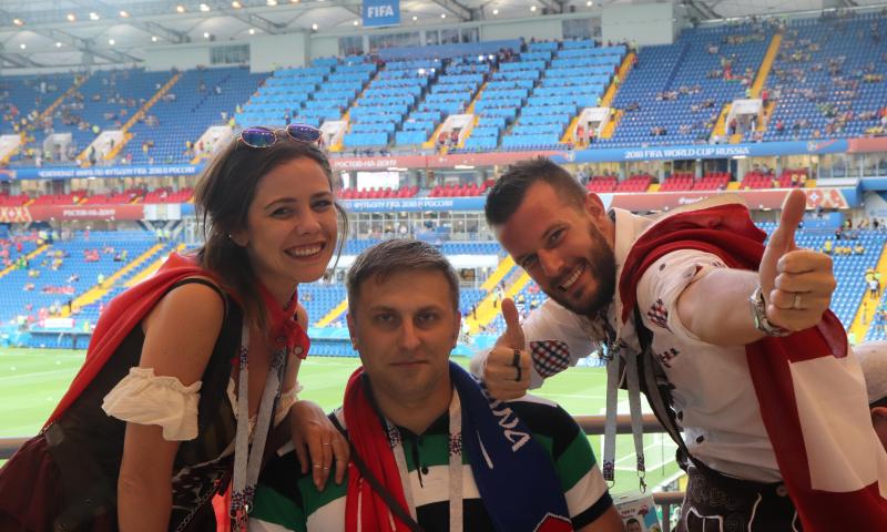 Шахтинец Илья Саенко побывал на двух матчах чемпионата мира по футболу