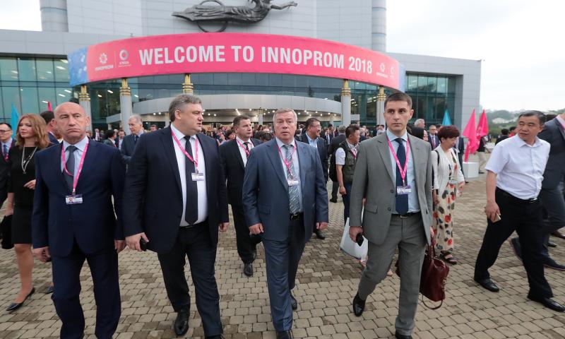 Делегация Ростовской области принимает участие в выставке «ИННОПРОМ-2018»
