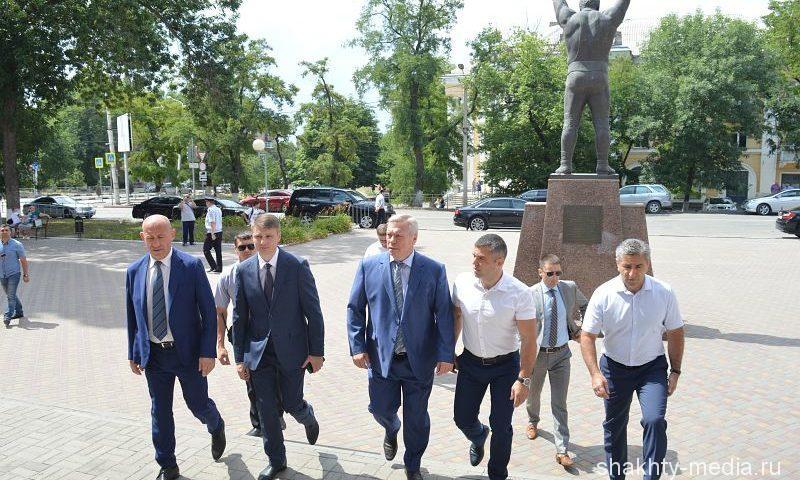 Город Шахты с рабочим визитом посетил губернатор Ростовской области Василий Голубев