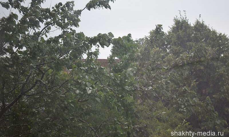 Штормовое предупреждение об ухудшении погодных условий объявлено в Шахтах на выходные