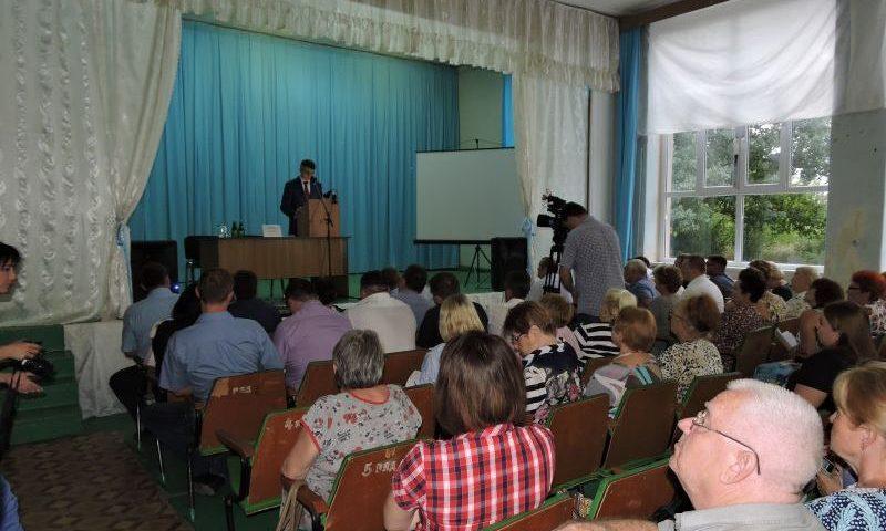 Глава администрации города Шахты Андрей Ковалев встретился с жителями  поселка ХБК