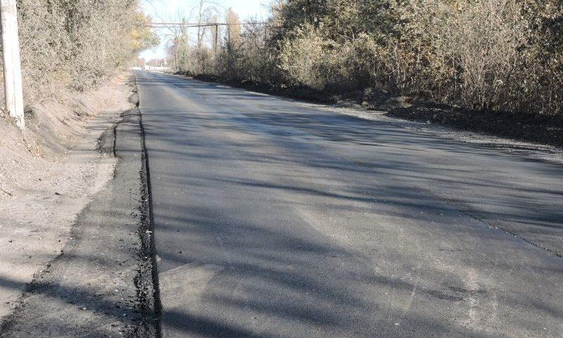 В поселке Майский отремонтировали автодорогу по ул. Келдыша