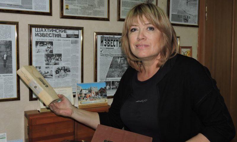Режиссер и актриса Шахтинского драматического театра Наталья Маслова приняла участие в акции «Добрая книга»