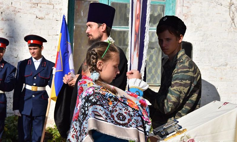 В Шахтах пятиклассники школы № 23 пополнили ряды казачат