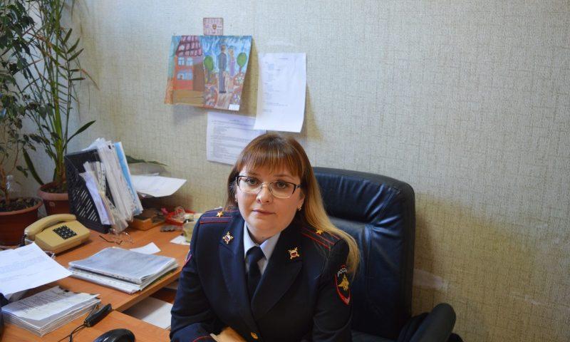 Евгения Михайленко, начальник отделения  делопроизводства и режима УМВД России по г. Шахты, майор внутренней службы: