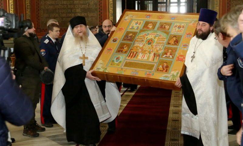 Икона «Казачья Голгофа» пребывает в Патриаршем Вознесенском войсковом всеказачьем соборе