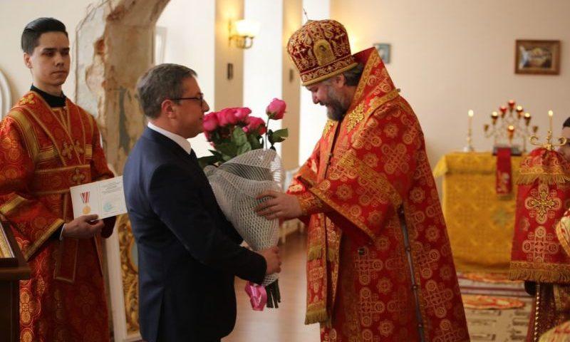 Епископ Симон совершил праздничное богослужение в день памяти святой Татьяны в храме при ИСОиП (филиале) ДГТУ в г. Шахты