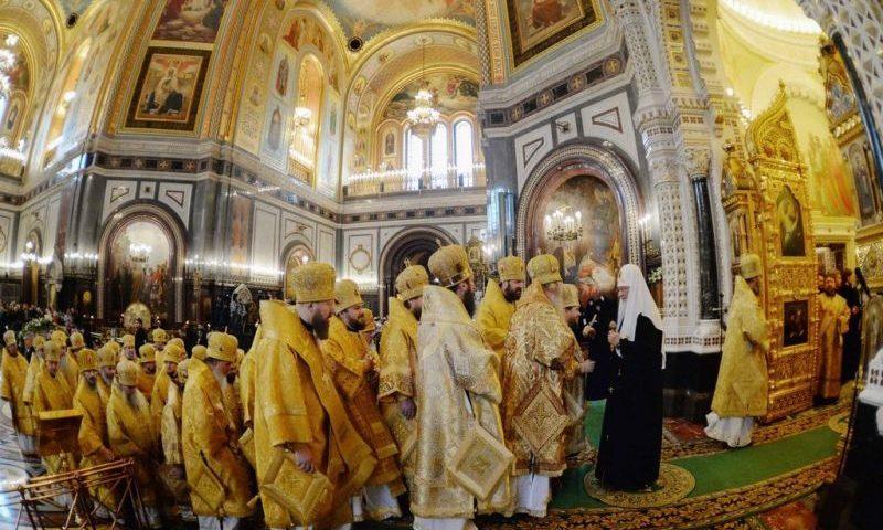 Преосвященнейший епископ Симон поздравил Святейшего Патриарха Кирилла с 10-й годовщиной его интронизации
